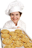 Biscuits de traitement au four de chef Images libres de droits