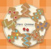 Biscuits de vacances dans un arbre Photos stock