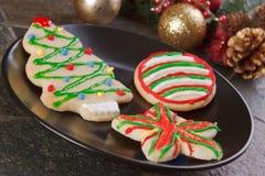 Biscuits de vacances de Noël Images libres de droits
