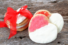Biscuits de Valentine Images stock