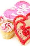 Biscuits de Valentines Photographie stock libre de droits