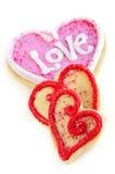 Biscuits de Valentines Photo libre de droits