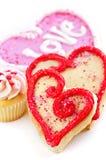 Biscuits de Valentines Image stock