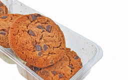 Biscuits in delivery pack Royalty Free Stock Images