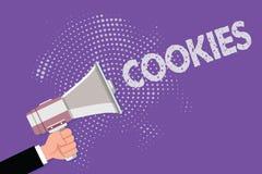 Biscuits des textes d'écriture Concept signifiant le petit gâteau augmenté de biscuit de dessert de casse-croûte délicieux doux d illustration de vecteur
