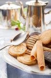 Biscuits on dish Royalty Free Stock Image