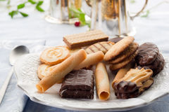 Biscuits on dish Royalty Free Stock Images