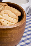 Biscuits from dough Stock Image