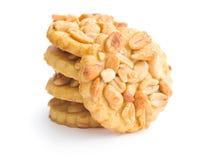 Biscuits doux avec des arachides Photo libre de droits