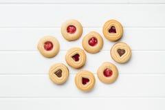 Biscuits doux de gelée Images libres de droits