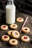 Biscuits doux de gelée Photos libres de droits