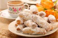 Biscuits doux espagnols traditionnels d'Alfajores Photo stock
