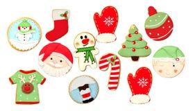 Biscuits drôles pour Noël photos libres de droits