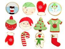 Biscuits drôles pour Noël photographie stock libre de droits
