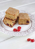 Biscuits with dried cherries. Biscuits cookies with dried cherries stock photography
