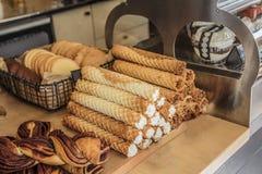 Biscuits en café Image libre de droits