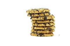 Biscuits en chocolat objet d'isolement sur le blanc Image libre de droits