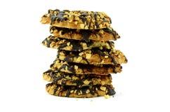 Biscuits en chocolat objet d'isolement sur le blanc Photographie stock libre de droits