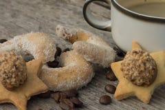 biscuits en croissant Vanille-assaisonnés photographie stock libre de droits