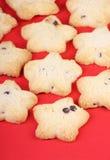 Biscuits en forme d'étoile Photo libre de droits
