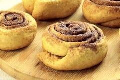 Biscuits en forme d'escargot savoureux images stock