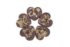 Biscuits en forme de coeur Photos libres de droits
