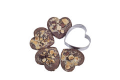 Biscuits en forme de coeur Image stock