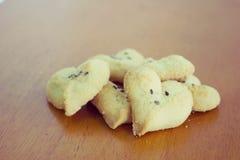 Biscuits en forme de coeur Photographie stock