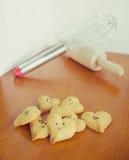 Biscuits en forme de coeur Images stock
