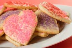 Biscuits en forme de coeur Image libre de droits