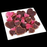 Biscuits en forme de coeur de Vegan Image libre de droits