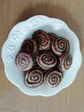 biscuits en spirale photographie stock libre de droits