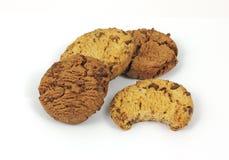 Biscuits et biscuit de puce de chocolat simple de dégagement photo libre de droits