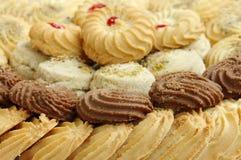 Biscuits et biscuits, foyer sur l'avant Images stock