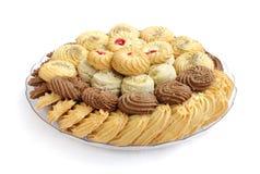 Biscuits et biscuits savoureux, foyer sur l'avant Image libre de droits