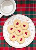 Biscuits et boissons Photo libre de droits