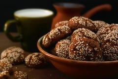 Biscuits et café Photographie stock libre de droits