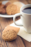 Biscuits et café Photo stock