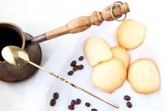 Biscuits et café d'amande Image libre de droits