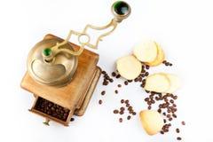 Biscuits et café d'amande Photo libre de droits