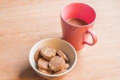 Biscuits et café de chocolat Photographie stock