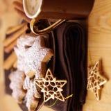 Biscuits et café de Noël image libre de droits