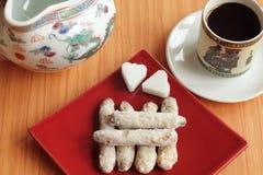 Biscuits et café faits maison Images libres de droits