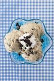 Biscuits et crême glacée crème Photo libre de droits