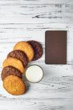 Biscuits et espace pour des notes Image stock