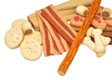 Biscuits et festins de chien image libre de droits