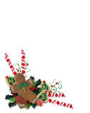 Biscuits et festins de Noël Photos stock