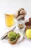 Biscuits et fruit1 Image libre de droits