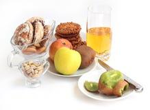 Biscuits et fruit Image libre de droits