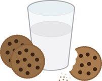 Biscuits et lait illustration de vecteur